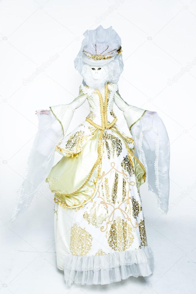 woman in medieval era dress
