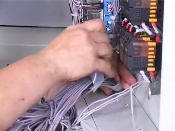 Verlegung von elektrischen Kabelbaum — Stockvideo © rawrobert #62856043