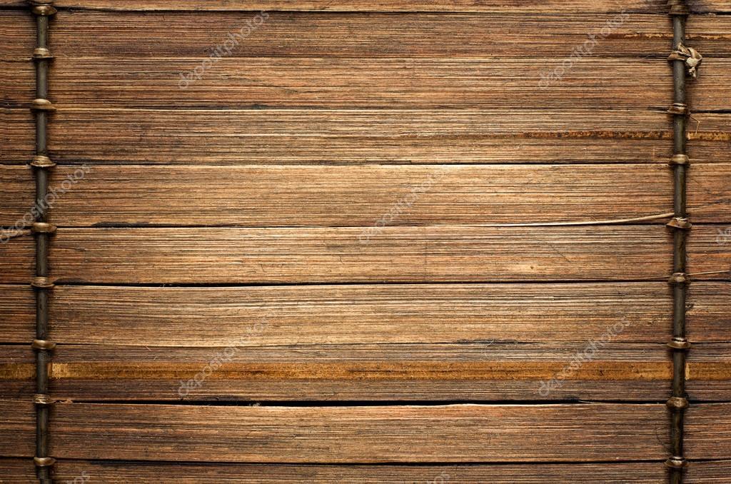 Fondo Marron De Madera Con Hilo Uniendo Palos De Bambu Fotos De - Palos-de-bambu