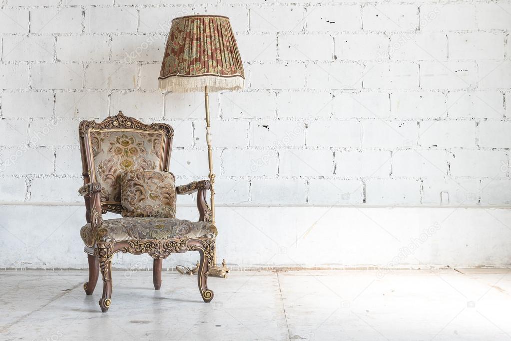 Stil Der Klassischen Stuhl Im Zimmer Vintage Stockfoto