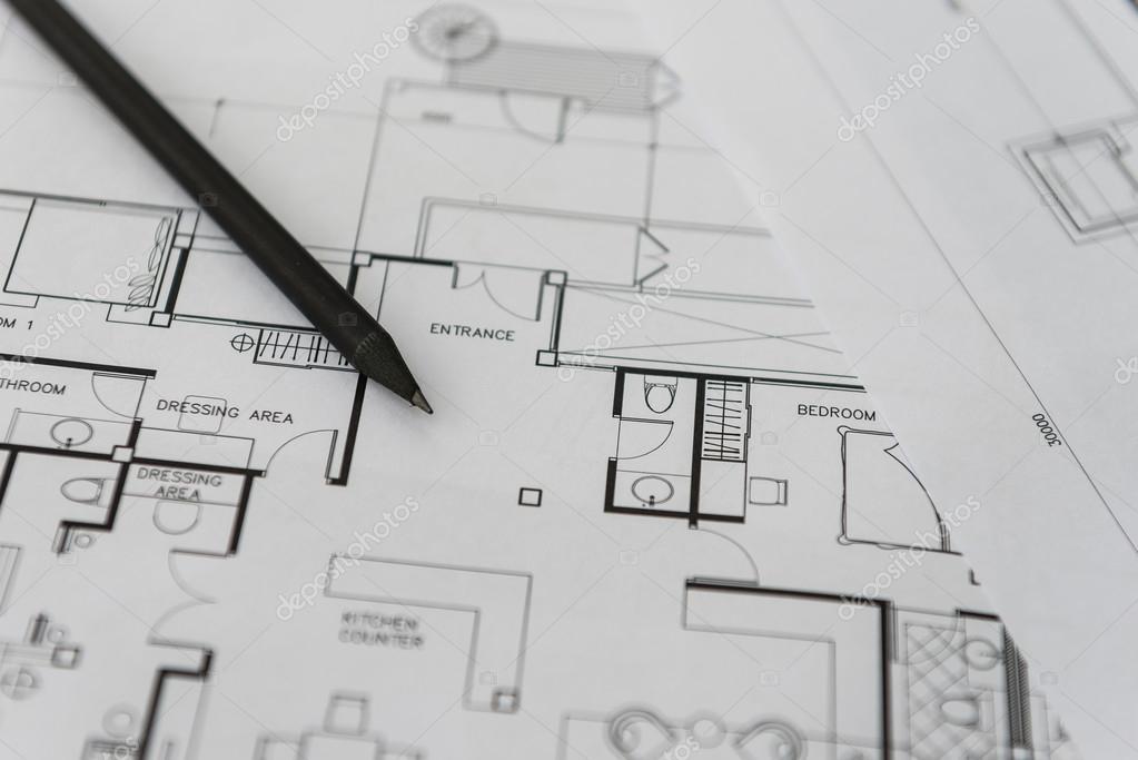 Negro l piz en arquitectura para planos de construcci n for Planos de construccion