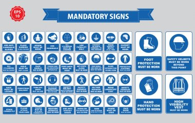 mandatory signs collection