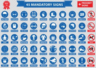 mandatory signs, construction health, safety sign used in industrial applications