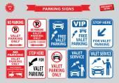 Fotografie Valet Parking signs