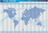 Časové pásmo a ilustrace mapa světa