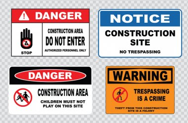 site  or construction safety signs