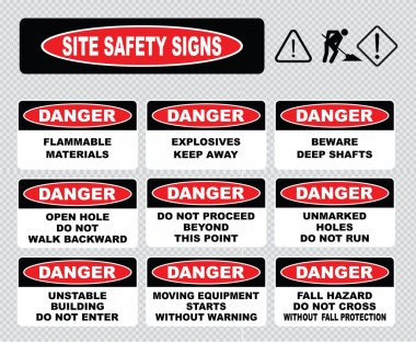 Site Safety Signs set
