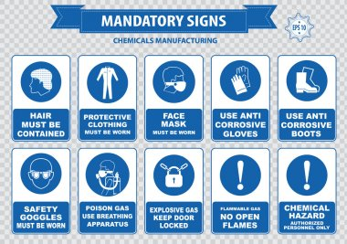 chemical manufacturing warning signs