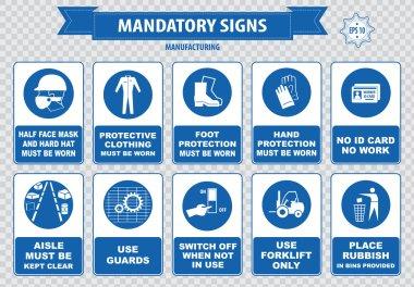Manufacturing warning signs set