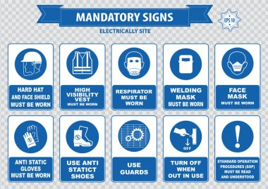 electrically site warning icons