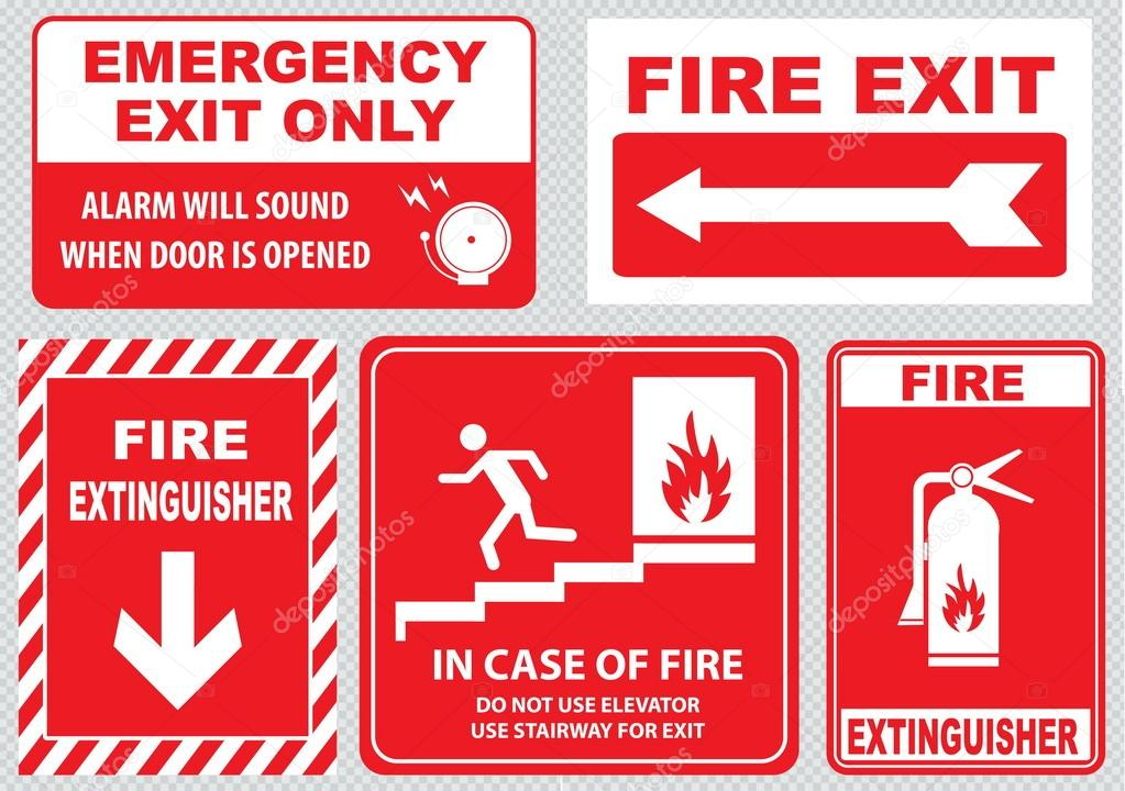 Fire Warning Signs Set Stock Vector 169 Coolvectormaker