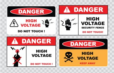 high voltage or electrical safety signs