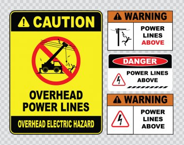 power lines danger signs