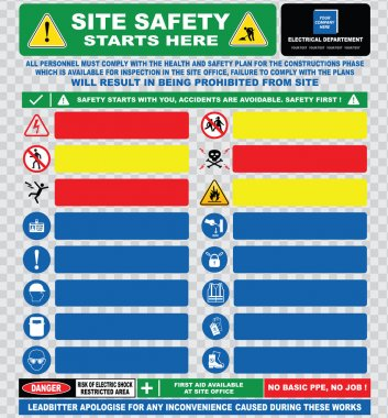 site safety electrical signs