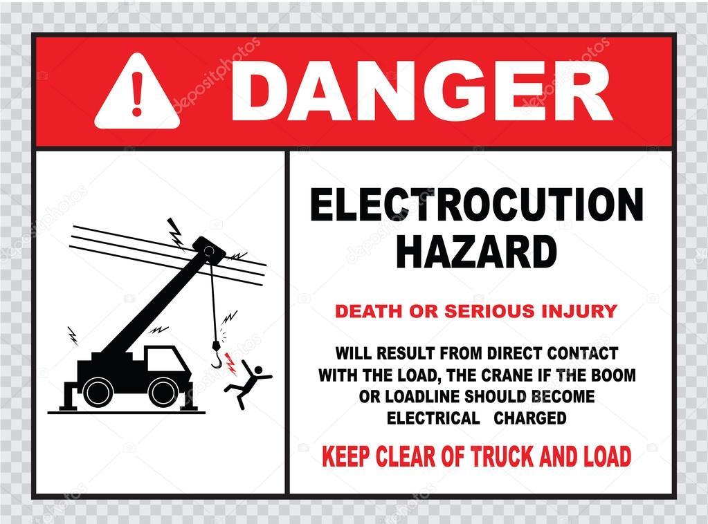 Macht Linien Gefahr Zeichen — Stockvektor © coolvectormaker #73713341