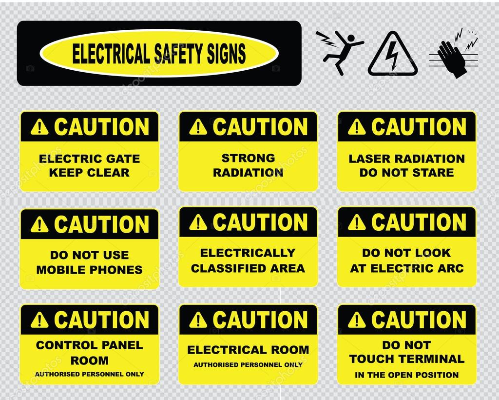 Electrical Warning Signs Stock Vector Coolvectormaker 73713345