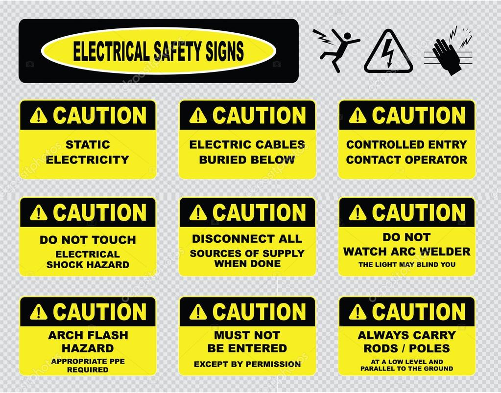 Electrical Warning Signs Stock Vector 169 Coolvectormaker