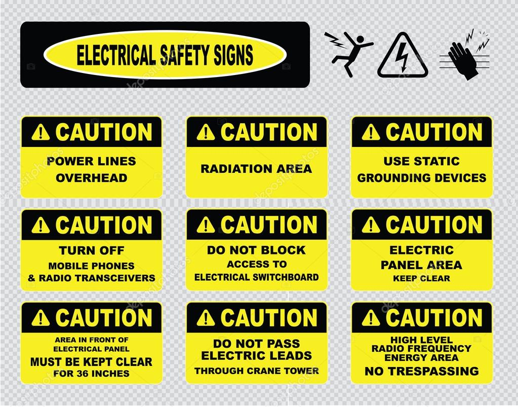 Electrical Warning Signs Stock Vector Coolvectormaker 73713355