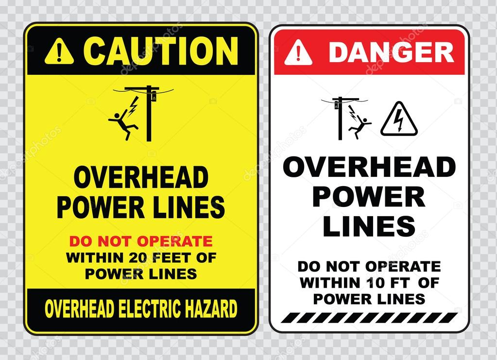 Power lines danger signs — Stock Vector © coolvectormaker