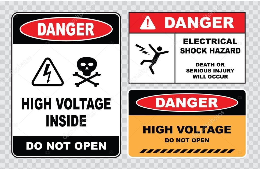 Hochspannungs-Warnzeichen — Stockvektor © coolvectormaker #73713475