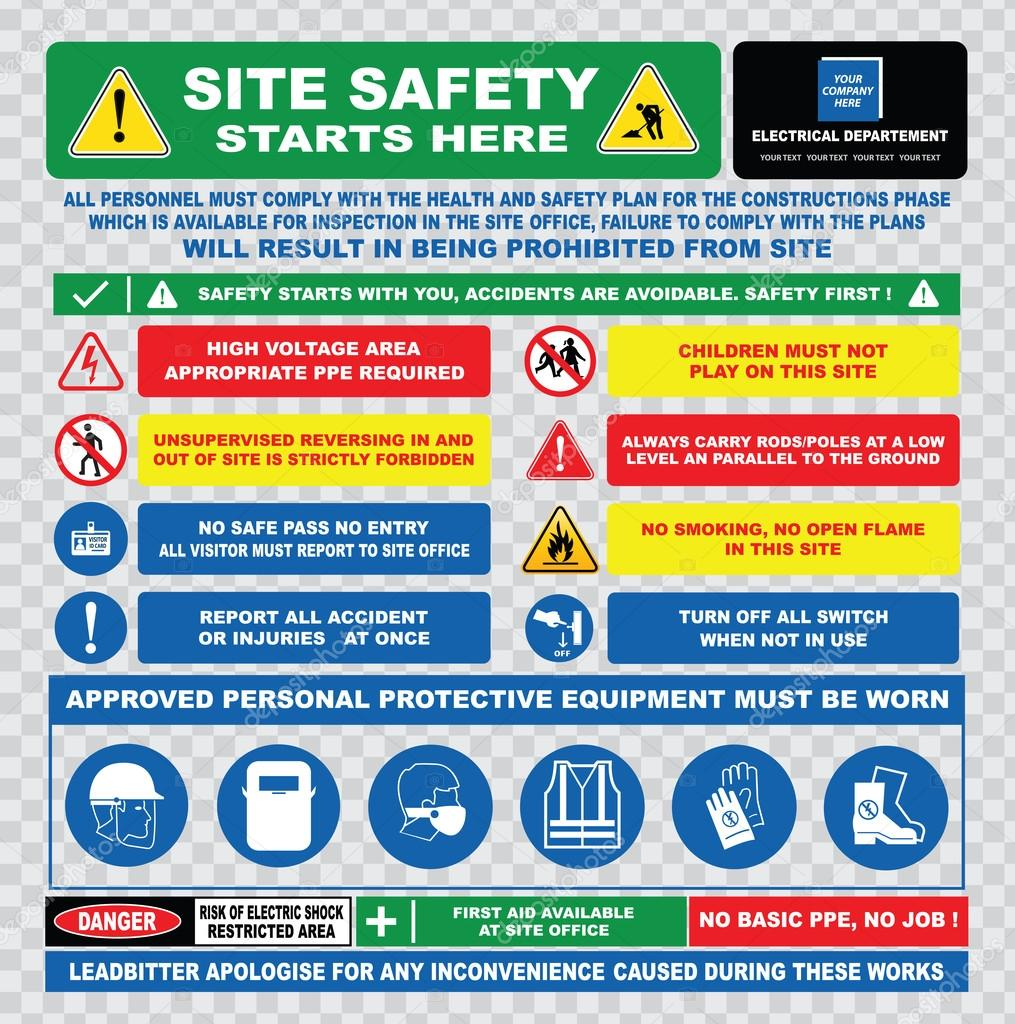 safety instructions for construction site