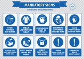 Chemical or Medical Mandatory signs