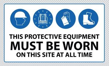 Mandatory signs at construction zone
