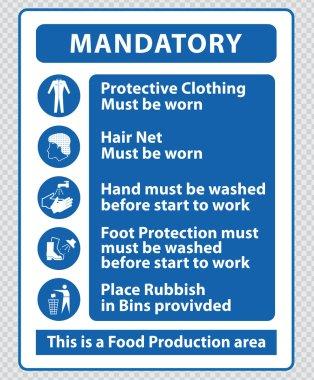 Food Production Mandatory Signs