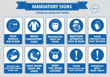 Chemical or Medical Mandatory signs