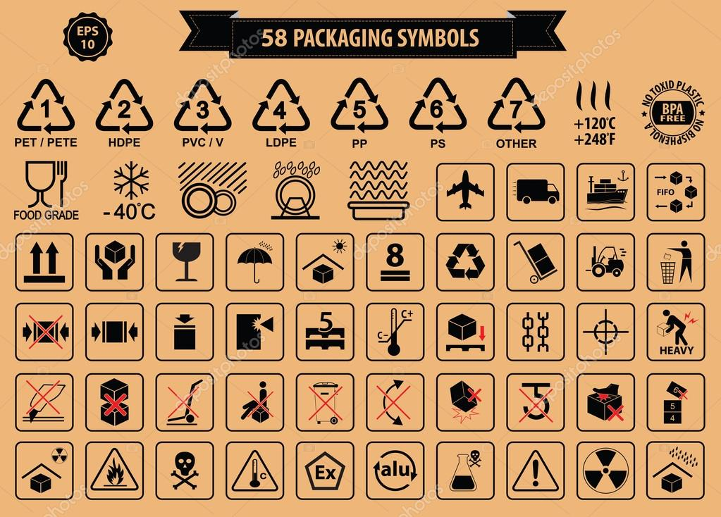 Set Of Packaging Symbols — Stock Photo © coolvectormaker