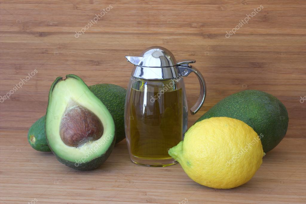 Ingredients for a salad of avocado.