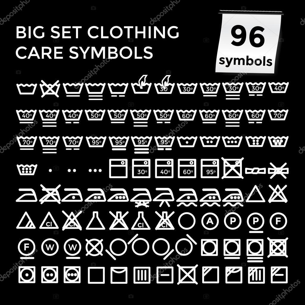 Vector illustration set clothing care symbols on black background vector illustration set clothing care symbols on black background stock vector biocorpaavc Gallery