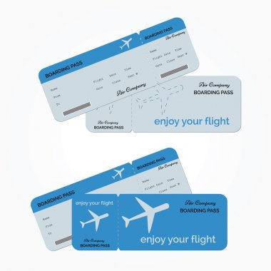 Variant of air ticket. Vector illustration
