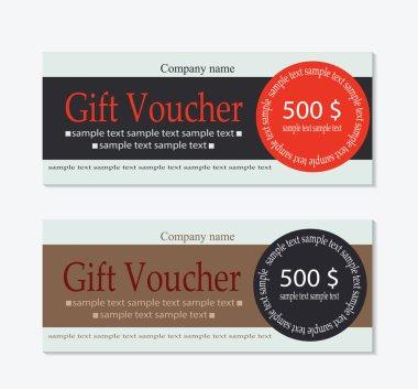 Vector Gift voucher template