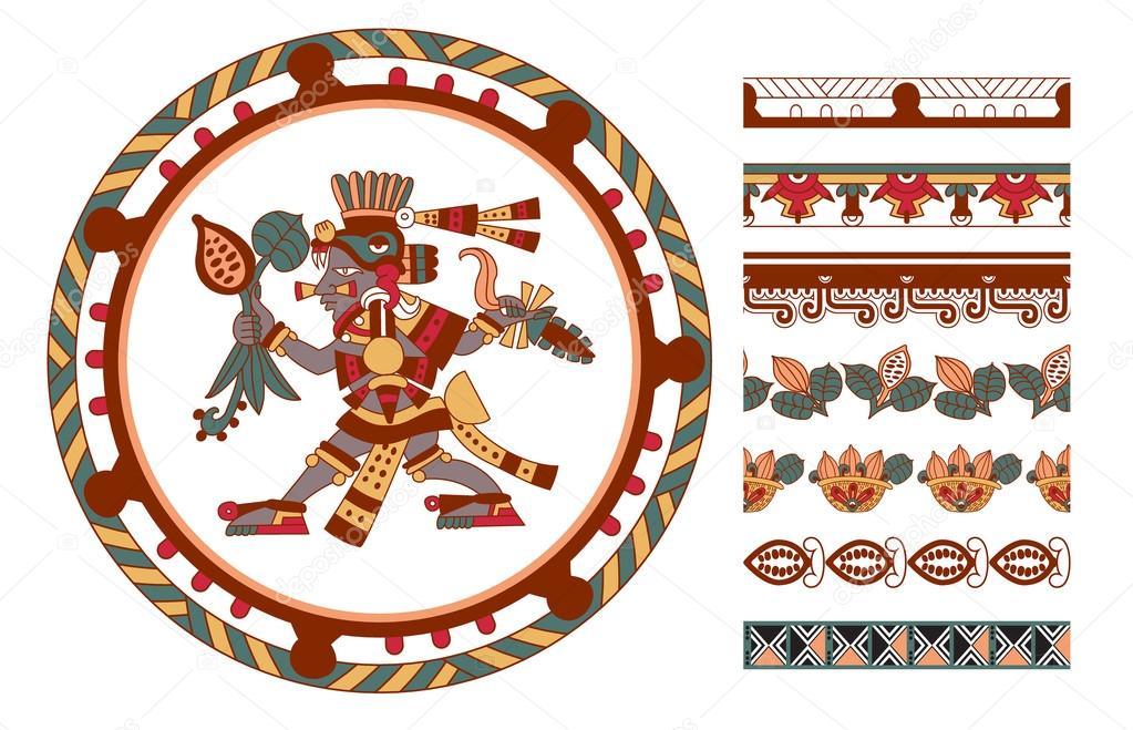 Dibujos Aztecas Boceto Dibujo árbol De Cacao Patrón Aztecas