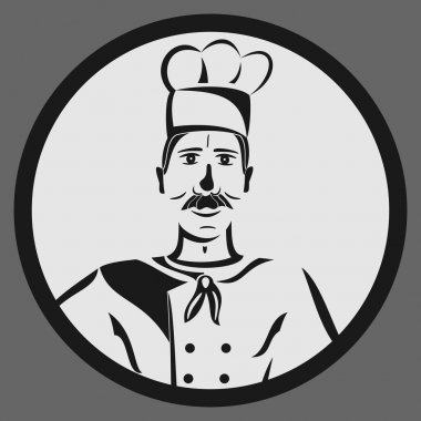 Sticker of restaurant chef