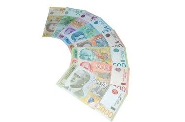 Serbian dinars banknotes series