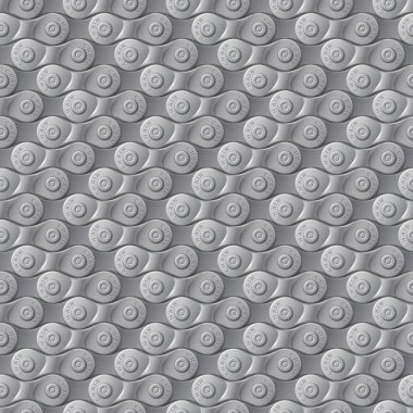 Seamless pattern, background, gray metal bicycle chain