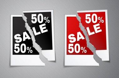 Photo discounts torn in half