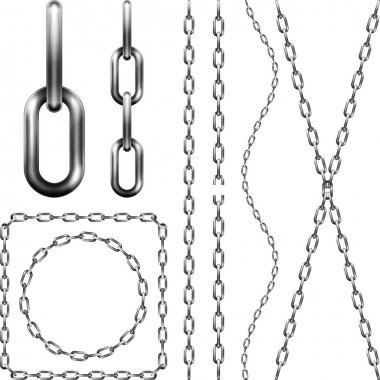 Set of metal chains