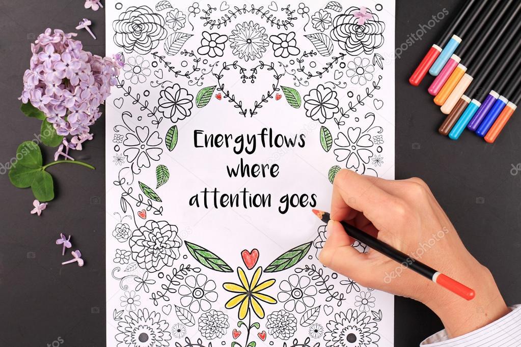 Para colorear para adultos. Relajación, meditación, Anti estrés la ...
