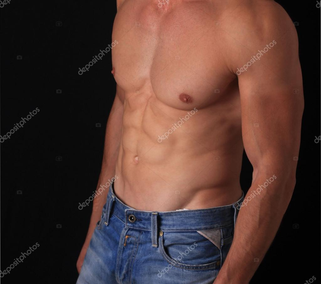 Strong Bodybuilder Six Pack Perfect Abs Stock Photo (Edit