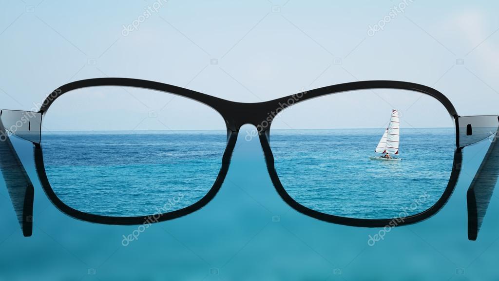 Setzen Sie die Brille für die andere, bessere Sicht. Mit Blick auf ...