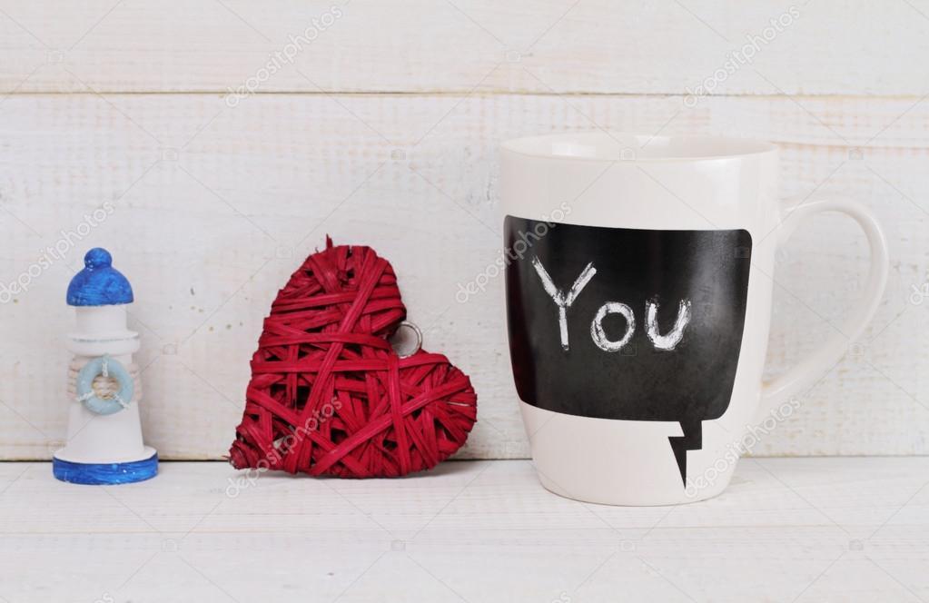 Amour Concept Romantique Messageheart Matin La Maison De
