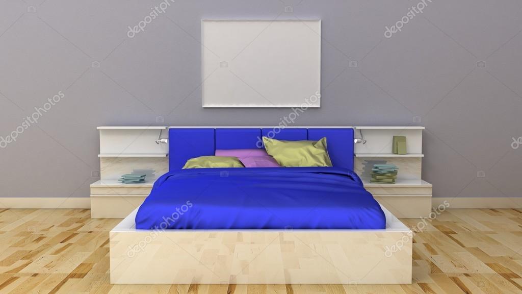 Leere Bilderrahmen im klassischen Schlafzimmer Interieur Hintergrund ...