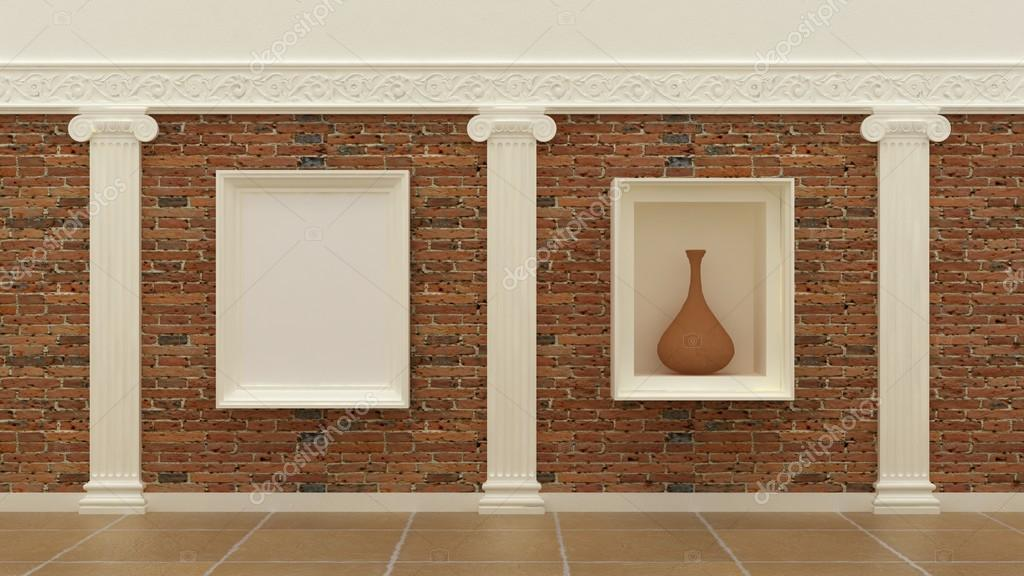 Photo Empty Cadres Dans Le Luxe Classique Fond Intrieur Sur Le Mur