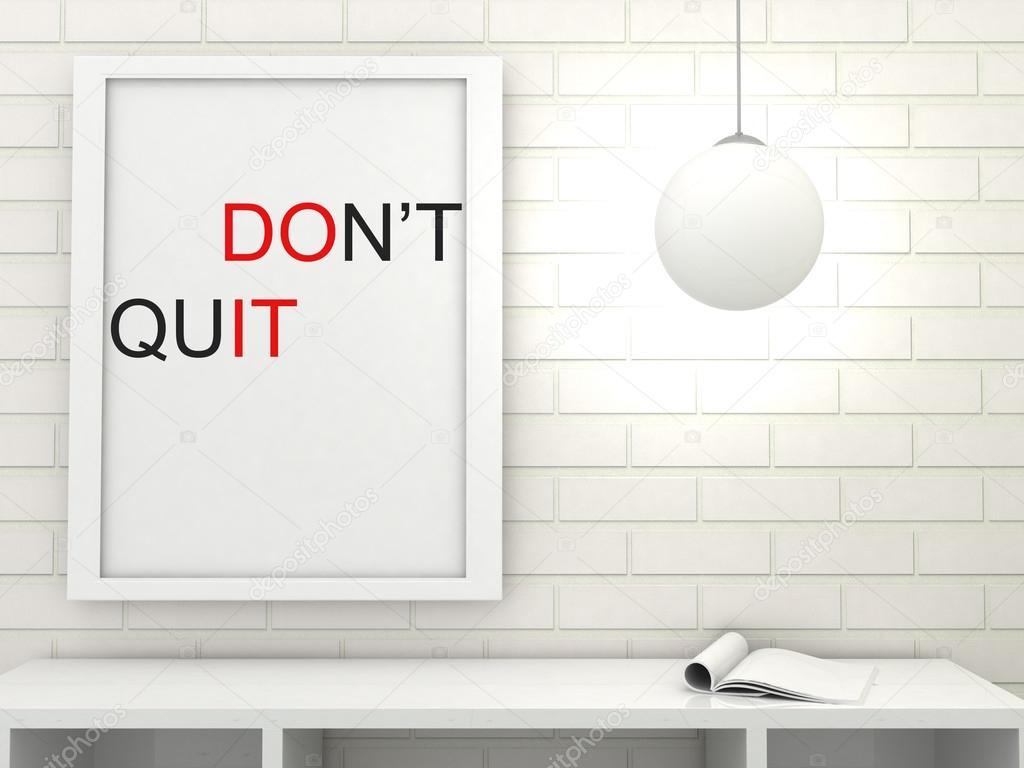 Motivation Worte tun es, nicht beenden, Inspiration Zitat. Poster in ...