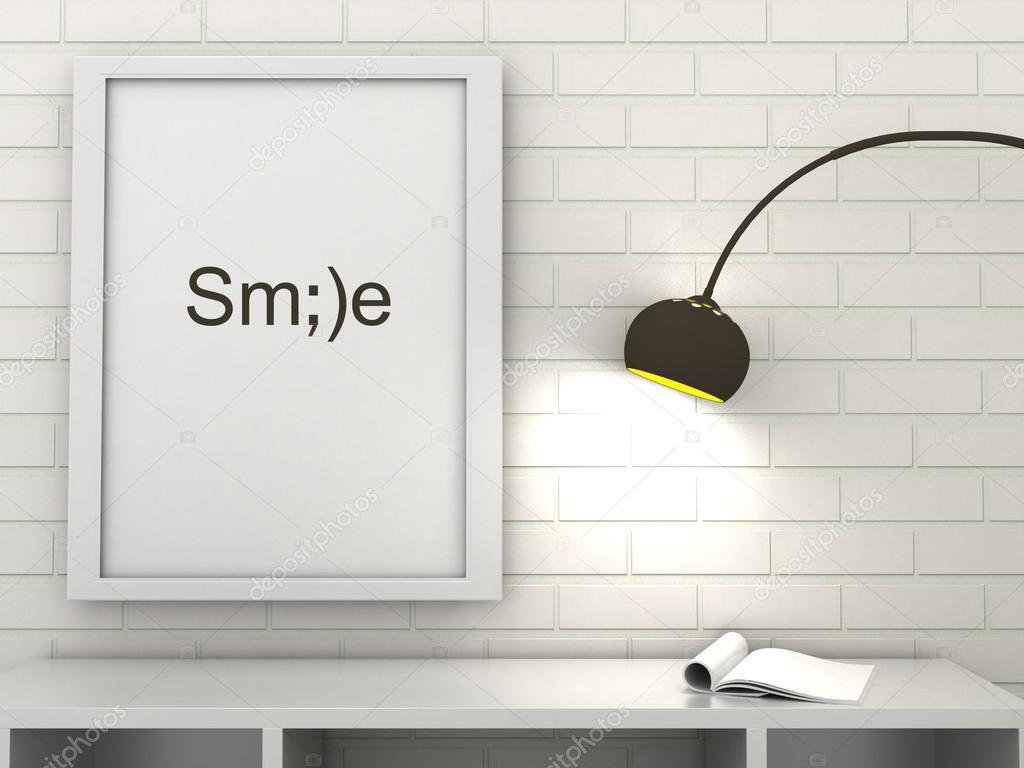Motivation Wörter Lächeln, Inspiration Zitat. Poster in Rahmen in ...