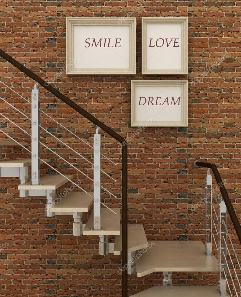 Motivation Plakat Lächeln, Liebe, Traum. Inspiration Plakatrahmen in ...