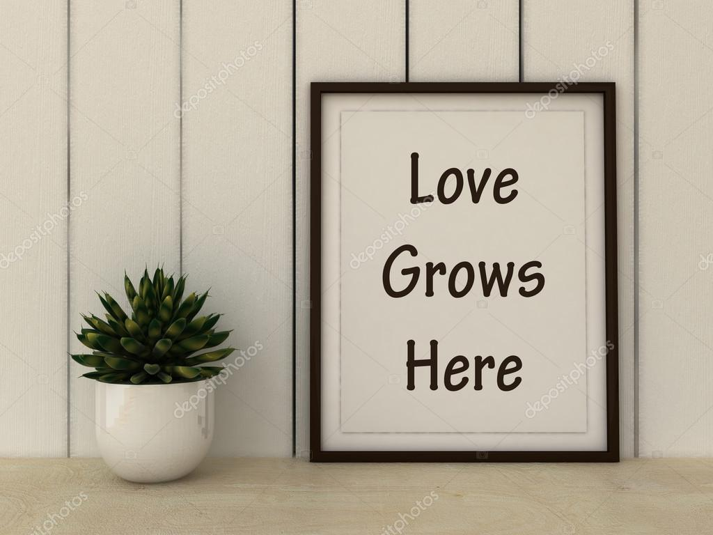 Motivação Palavras Amor Cresce Aqui Família Felicidade